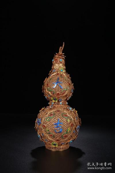 銀鎏金花絲·大吉葫蘆賞瓶