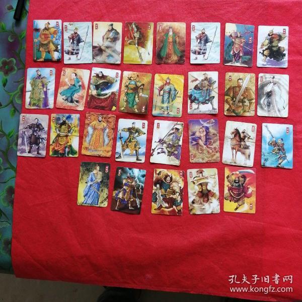 華豐  三國卡 29張不重樣合售