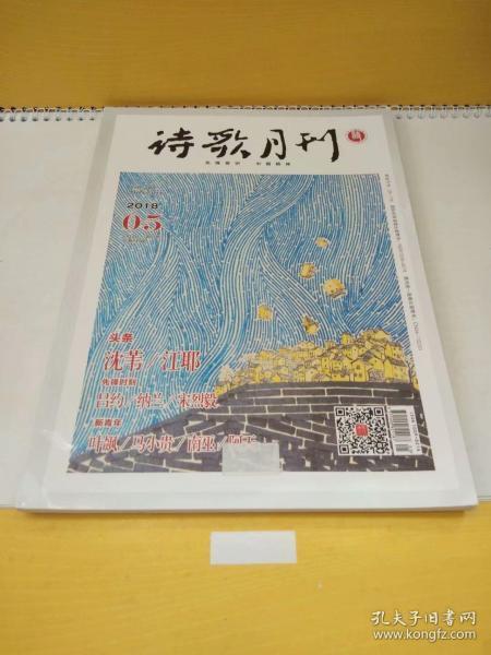 詩歌月刊2018年第5期總第210期(內有沈葦、江耶、呂約、納蘭等人的作品)