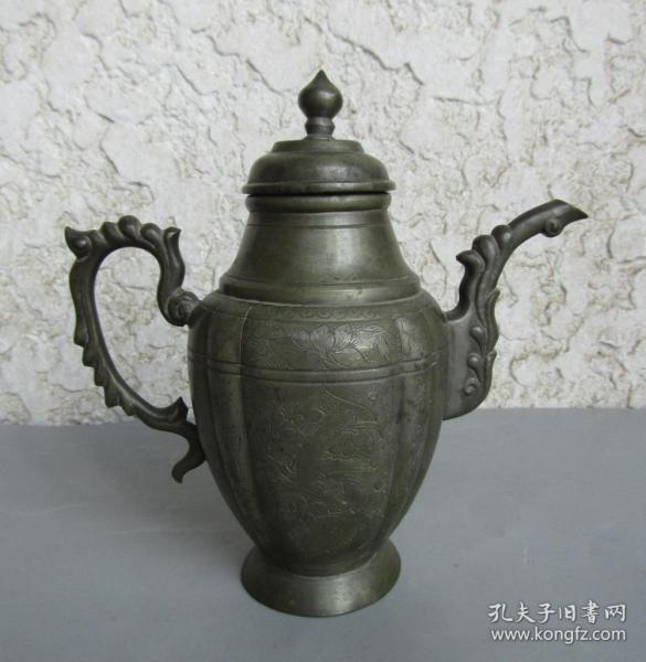 民國漂亮錫壺