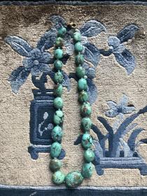 天然原矿绿松石项链