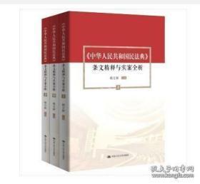 中华人民共和国民法典 条文精释与实案全析(全三册)