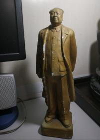 文革时期:毛主席石膏站像。品好无伤