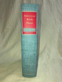 美国藏书票研究指南: American book-plates. a guide to their study, by Charles Dexter Allen 1968.