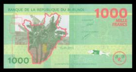 外国纸币 布隆迪1000法郎(2015年版) 世界钱币