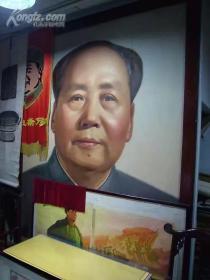 孔网孤品伟人巨幅油画像、镇店之宝、传家宝!八一建军节展示品!