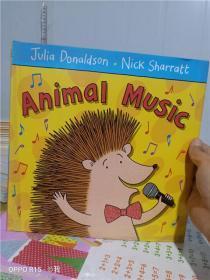 实物拍照; Animal Music 动物音乐 纸板书 Nick Sharratt 儿童英语启蒙学习 押韵韵文趣味图画故事绘本