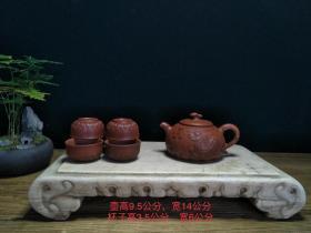 名人紫砂套壶纯手工打造,,密封性良好,散热慢,壶嘴采用平衡式设计,断水利落,造型周正古朴,品相完整,成色如图