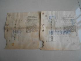 五十年代(西安市邮局)预订报纸杂志通知单,2张