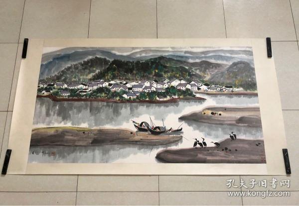 吳冠中寫實畫風風景水墨作品