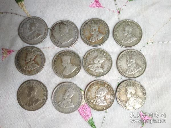 老銀幣、殖民地銀幣、外國老銀幣,35元一枚,編號A