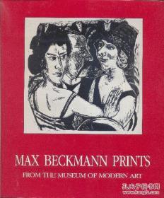 Wendy Weitman著《德國版畫家馬克斯·貝克曼的藝術展覽集》大量版畫 圖像,1992年紐約出版