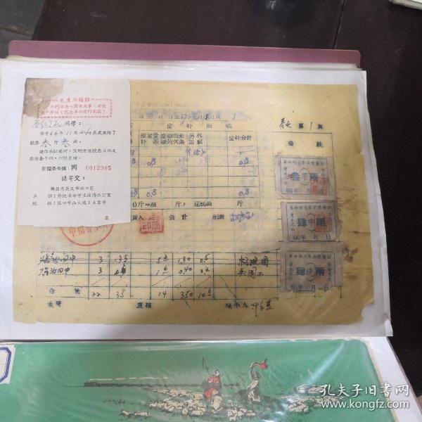 歷史教學:1966年武漢糧票借據資料