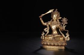 鎏金文殊菩薩造像