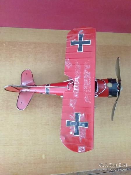 手工鐵皮飛機模型1架