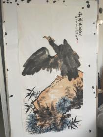 邵戈  雄鹰图  大尺寸136x68