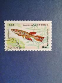 外国邮票 几内亚比绍邮票 1983年  鱼 (盖销票)