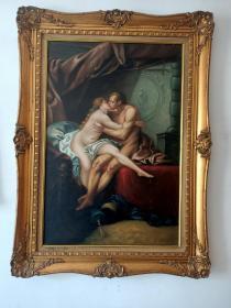 老油画(长113厘米,宽85厘米)