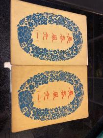 长春风光 一 二 2套共12张全 中国人民邮政美术明信片 五十年代出版