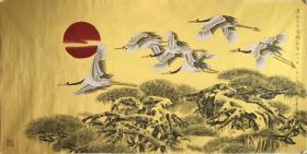 莫建成 精品 工笔花鸟  尺寸136x66cm           莫建成,现为中国美术家协会理事,甘肃省美术家协会主席
