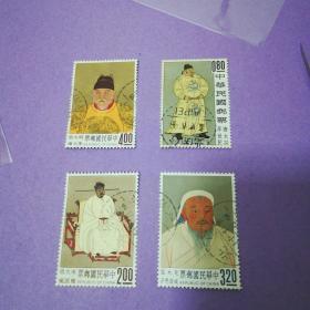 专27  古画二邮票(001)   信销上品  宋太祖后背小薄,正面没问题