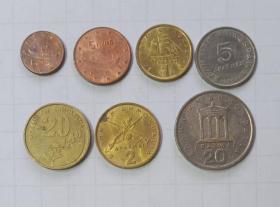 希腊 硬币 7枚旧品 外国钱币