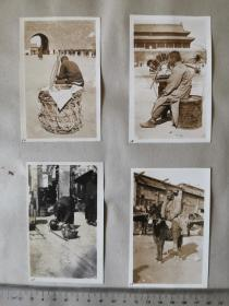 民国北京日占时期城门附近民俗老照片共八张