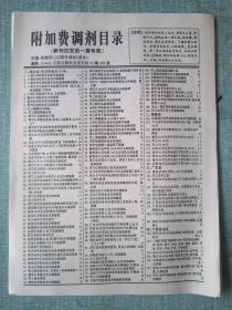民间集邮报—附加费调剂目录 8开4版