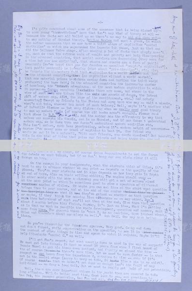國際著名記者、杰出的國際主義戰士 伊斯雷爾·愛潑斯坦 英文簽名信札一通一頁兩面  HXTX117346