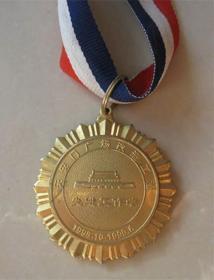 天安門廣場改造工程先進工作者獎章,北京市人民政府天安門地區管理委員會頒發。銅鍍金 直徑5.2厘米,此章1999年頒發,有意義,精美,厚重,可收藏。