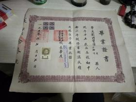 上海市私立求德女子初级中学毕业证贴4张税票