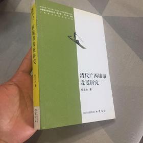 中國城市史研究叢書(第2編):清代廣西城市發展研究