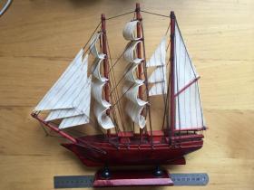 一帆風順帆船模型 臥室客廳創意工藝船小擺設裝飾品 木船擺件