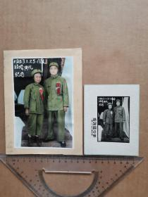 老照片 军人结婚典礼纪念(2张)