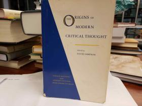 The Origins Of Modern Critical Thought German Aesthetic And Literary Criticism From Lessing To Hegel