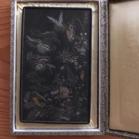 清彭元瑞恭摩玄海环老墨锭400克后配盒 N738
