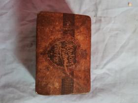 民国英国伦敦太妃糖铁皮包装盒11*7.5*3