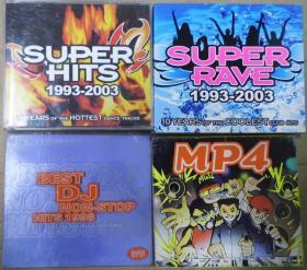 AVEXTRAX BEST DJ NON STOP 1998 SUPER HITS 199 3-2003 SUPER RAVE 1993-2003  MP4  旧版 港版 原版 绝版 CD