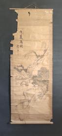 D875:回流手绘山水图立轴(日本回流.回流老画.老字画)