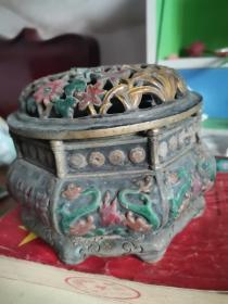 铜加珐琅彩香炉