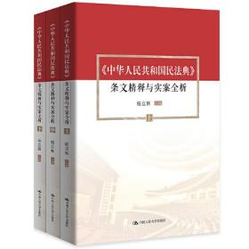 9787300283074-hf-中华人民共和国民法典 条文精释与实案全析