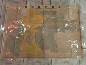 珍稀 特大 彩印一1951年《成都市区地图》新中国首版!