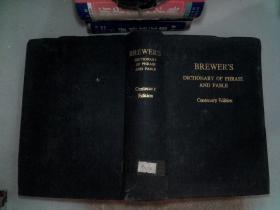 BREWERS DICRIONARY OF PHRASE AND FABLE
