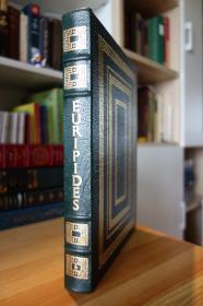 悲剧诗人欧里庇得斯 Medea: Hippolytus, The Bacchae 真皮精装收藏版 书口三面刷金 竹节书脊 (100 Greatest Books Ever Written)