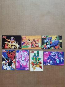 卡通卡片(7张)