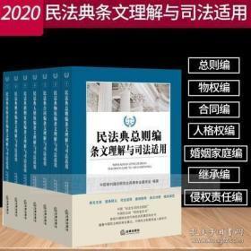 民法典2020年版 民法典总则编条文理解与司法适用