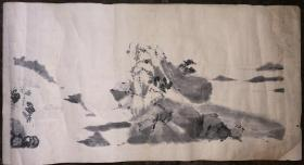 佚名山水画绘画作品1张