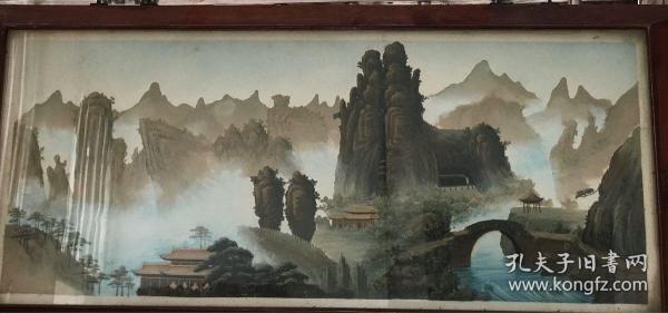 溫州特色 甌塑 雁蕩山 90x38cm