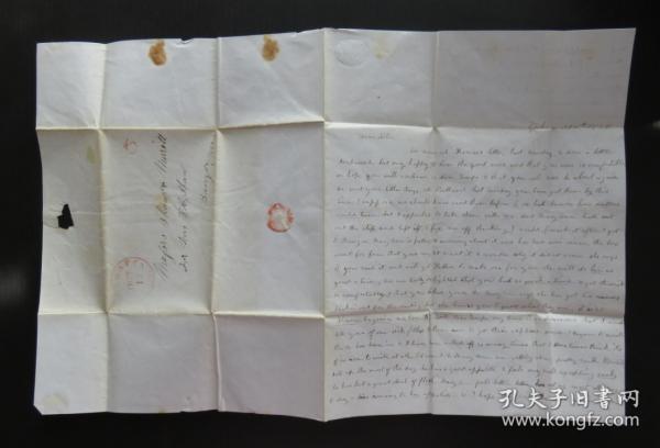 1848年10月18日(班戈)實寄史前封、銷5分郵資手蓋戳60