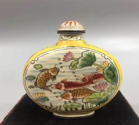 金魚紋 鼻煙壺